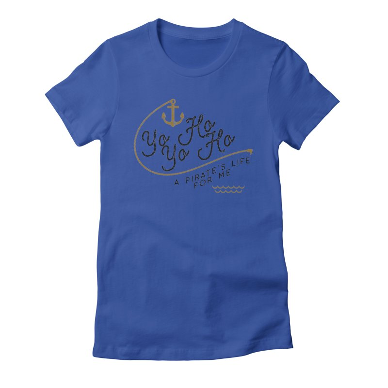 Pirate's Life for Me Women's Fitted T-Shirt by Katie Rose's Artist Shop
