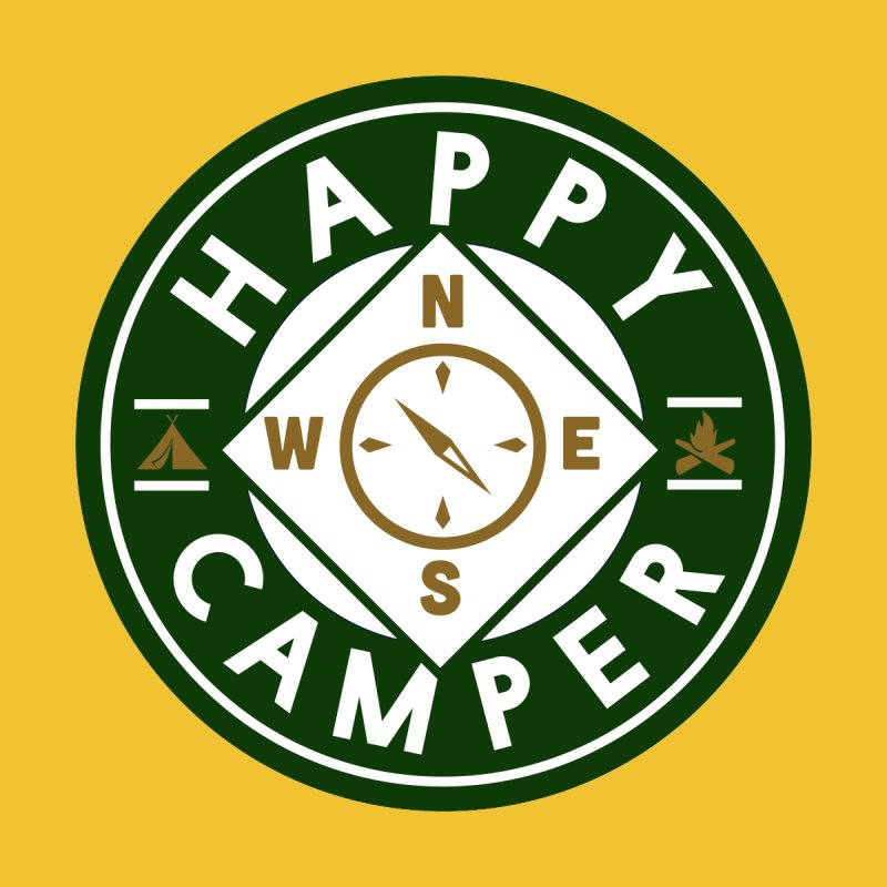 Happy Camper Men's Longsleeve T-Shirt by Katie Rose's Artist Shop