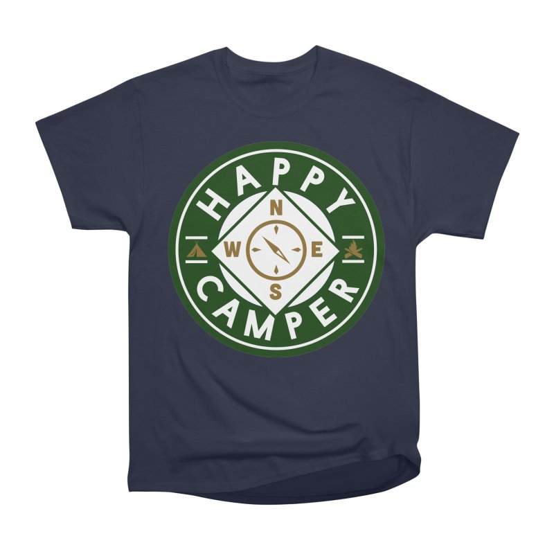 Happy Camper Men's Heavyweight T-Shirt by Katie Rose's Artist Shop