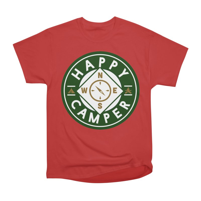 Happy Camper Women's Heavyweight Unisex T-Shirt by Katie Rose's Artist Shop