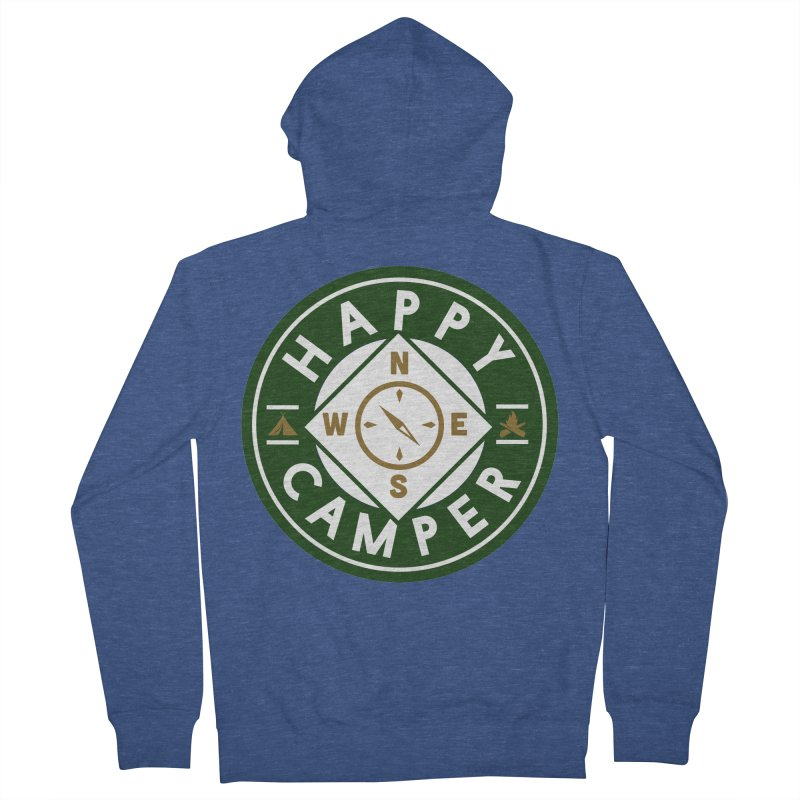 Happy Camper Women's French Terry Zip-Up Hoody by Katie Rose's Artist Shop