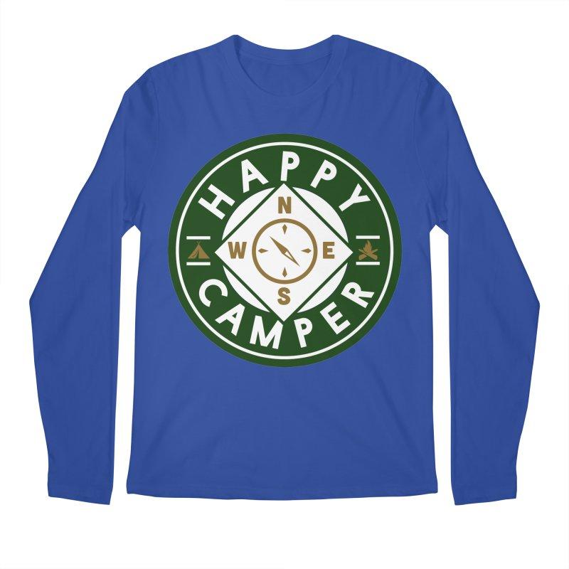 Happy Camper Men's Regular Longsleeve T-Shirt by Katie Rose's Artist Shop