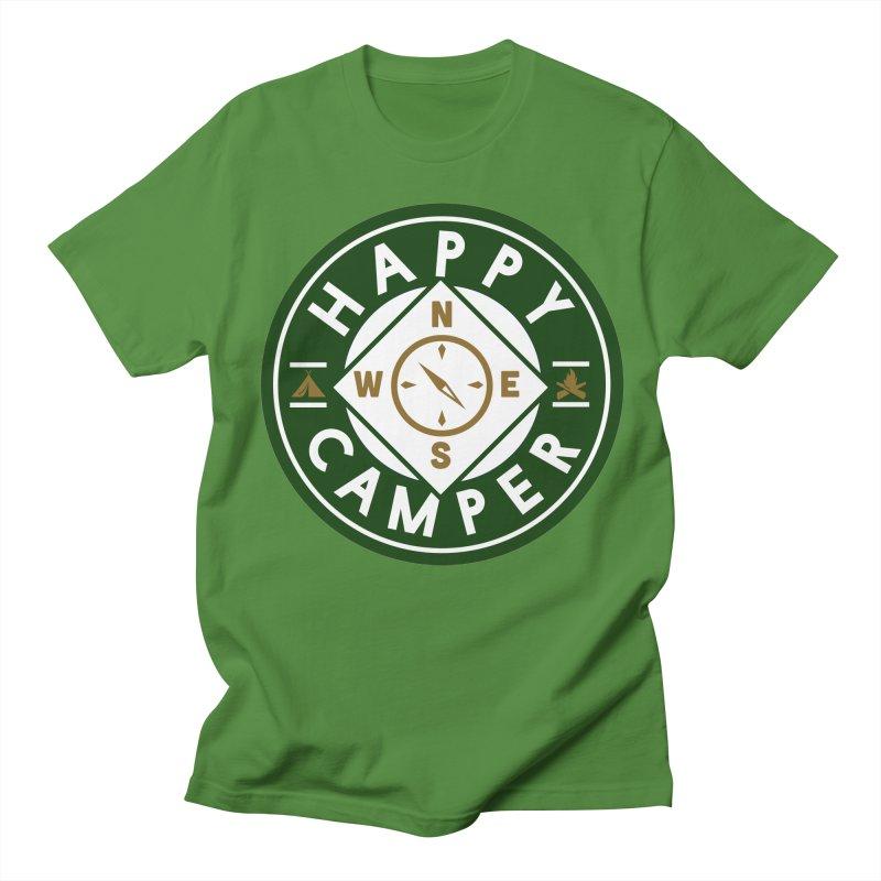 Happy Camper Men's Regular T-Shirt by Katie Rose's Artist Shop