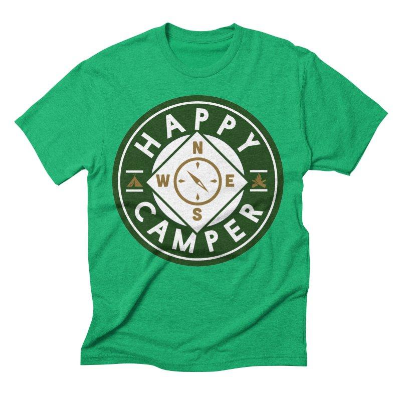 Happy Camper Men's Triblend T-Shirt by Katie Rose's Artist Shop