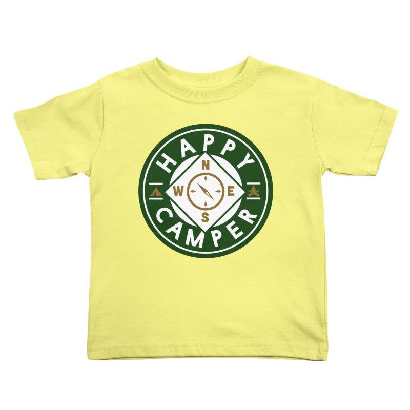 Happy Camper Kids Toddler T-Shirt by Katie Rose's Artist Shop