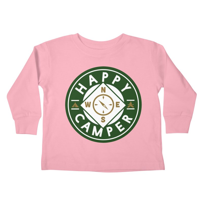 Happy Camper Kids Toddler Longsleeve T-Shirt by Katie Rose's Artist Shop
