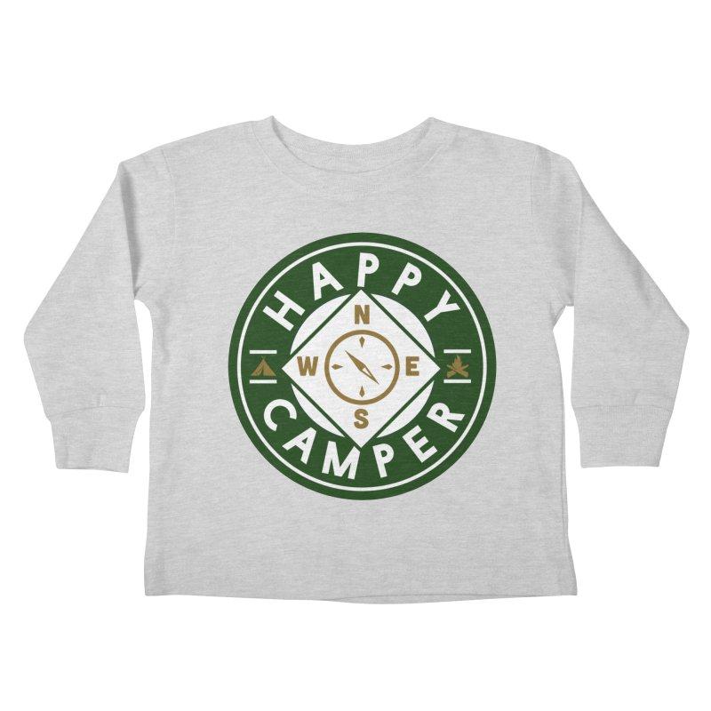 Happy Camper Kids Toddler Longsleeve T-Shirt by Katie Rose's Artist Shop