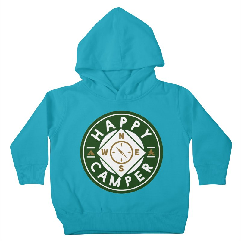 Happy Camper Kids Toddler Pullover Hoody by Katie Rose's Artist Shop