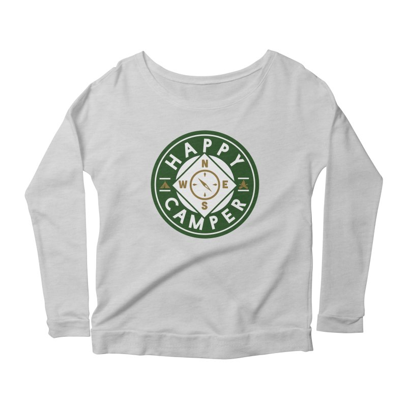 Happy Camper Women's Scoop Neck Longsleeve T-Shirt by Katie Rose's Artist Shop