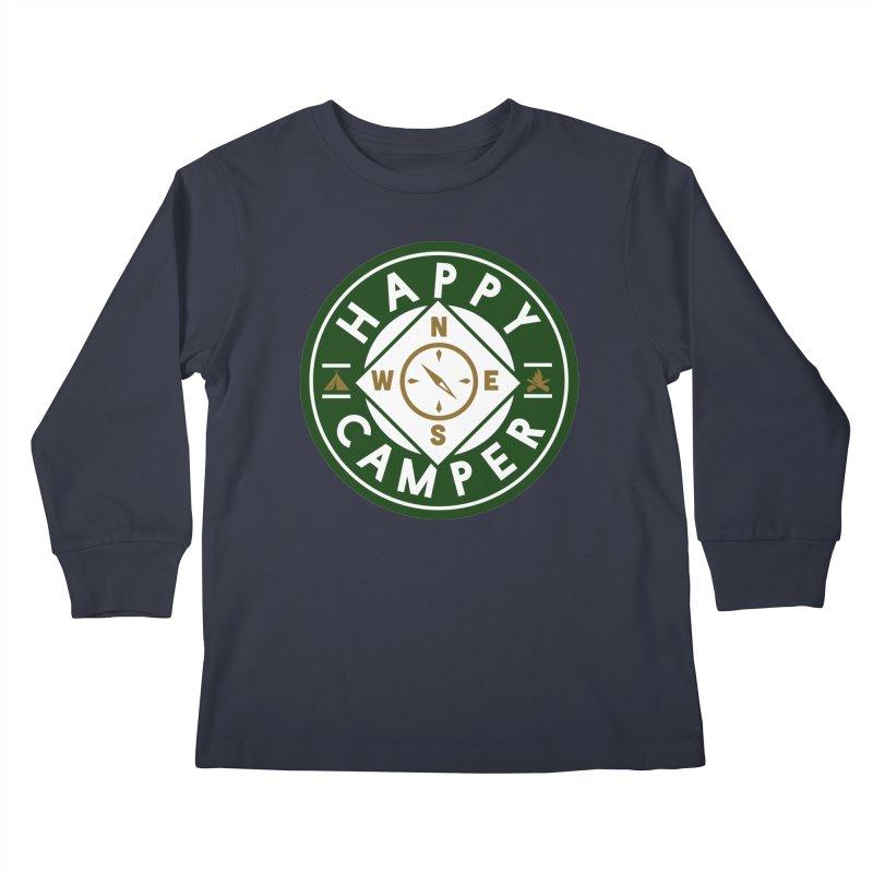 Happy Camper Kids Longsleeve T-Shirt by Katie Rose's Artist Shop