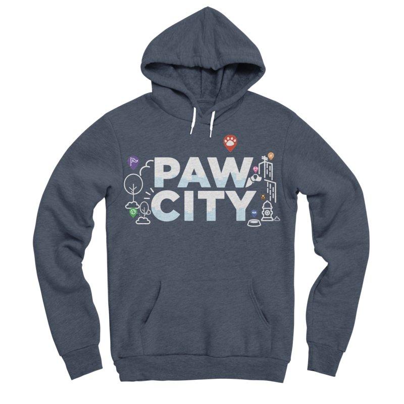 Paw City Men's Sponge Fleece Pullover Hoody by Katie Rose's Artist Shop