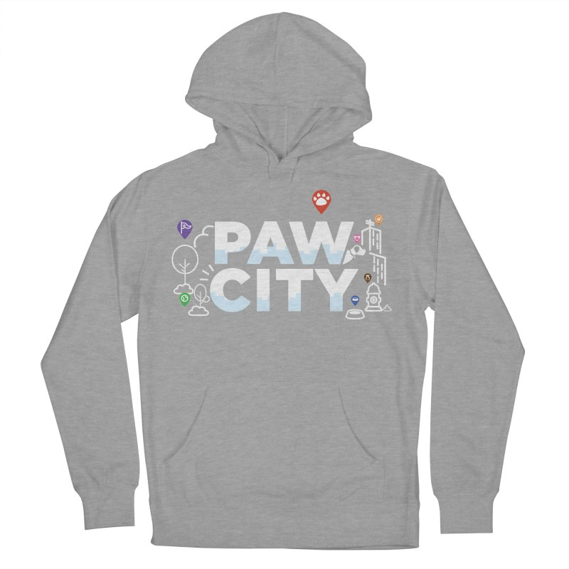 Paw City Women's French Terry Pullover Hoody by Katie Rose's Artist Shop