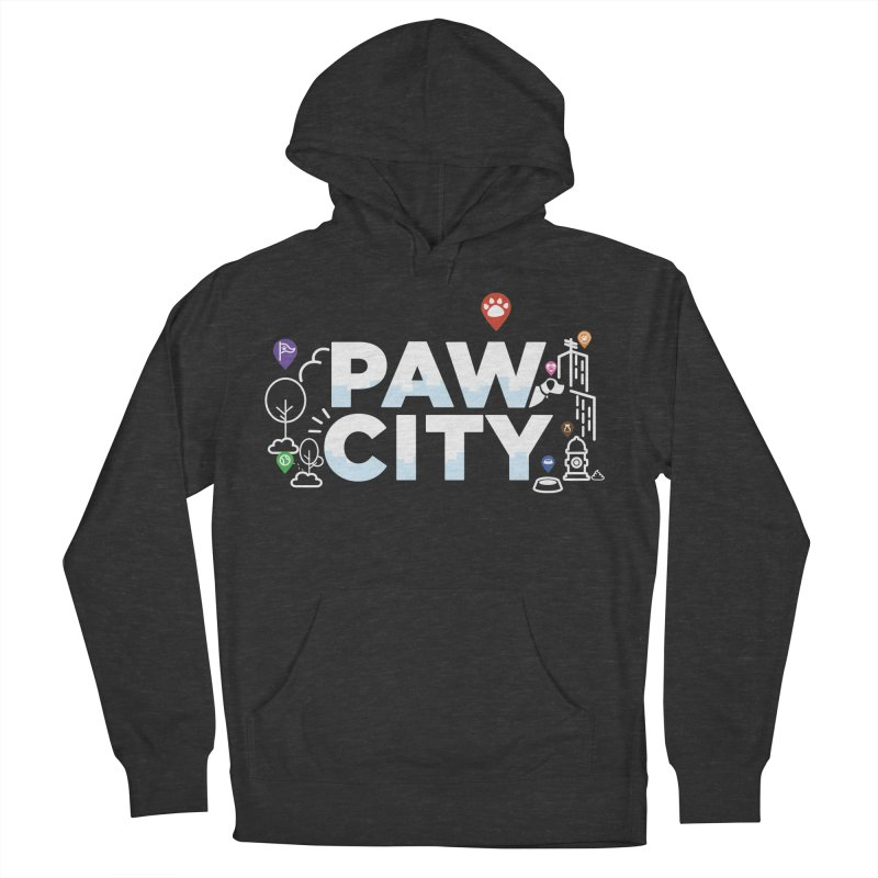 Paw City Men's French Terry Pullover Hoody by Katie Rose's Artist Shop
