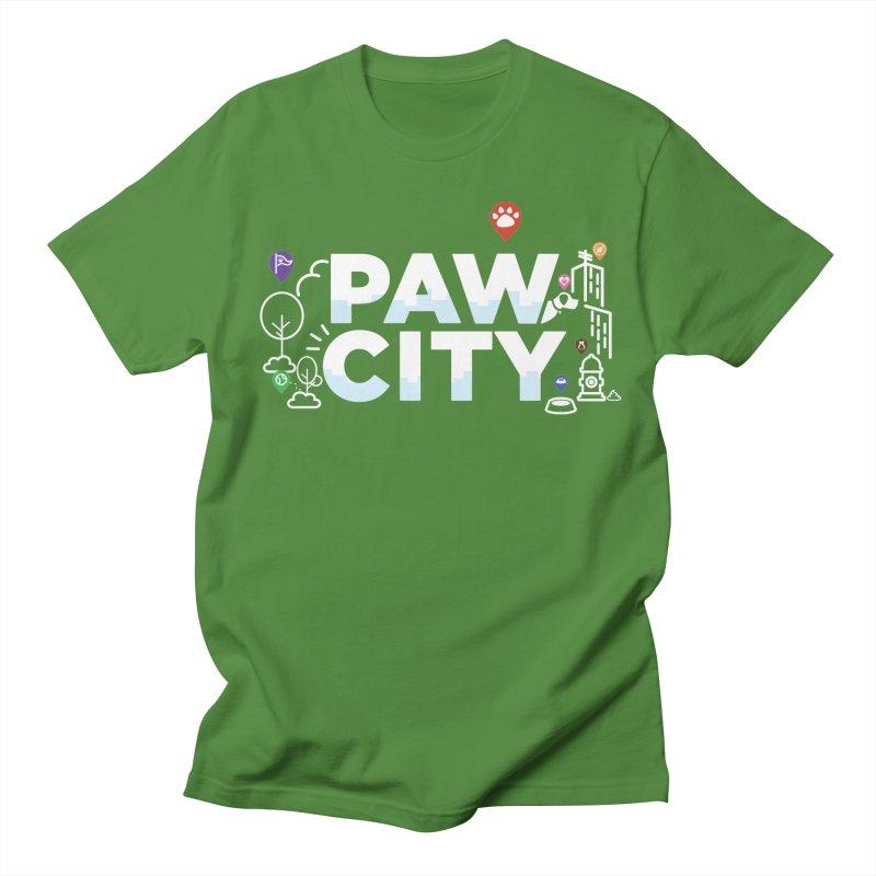 Paw City Men's Regular T-Shirt by Katie Rose's Artist Shop