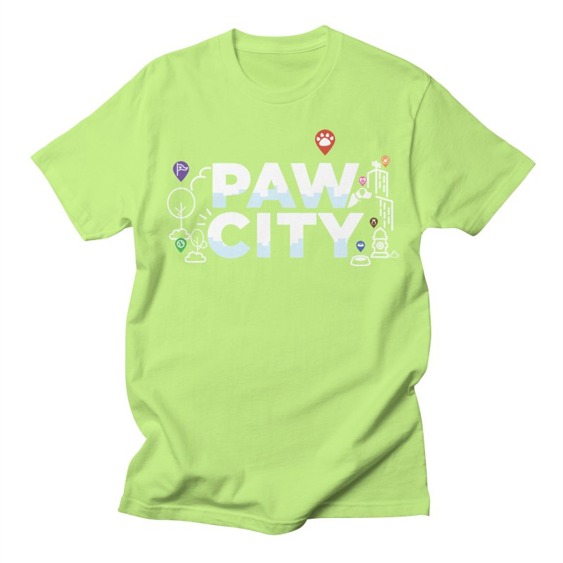 Paw City Women's Regular Unisex T-Shirt by Katie Rose's Artist Shop