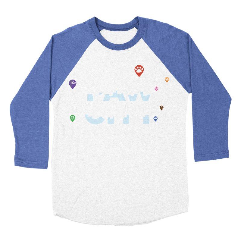 Paw City Men's Baseball Triblend Longsleeve T-Shirt by Katie Rose's Artist Shop