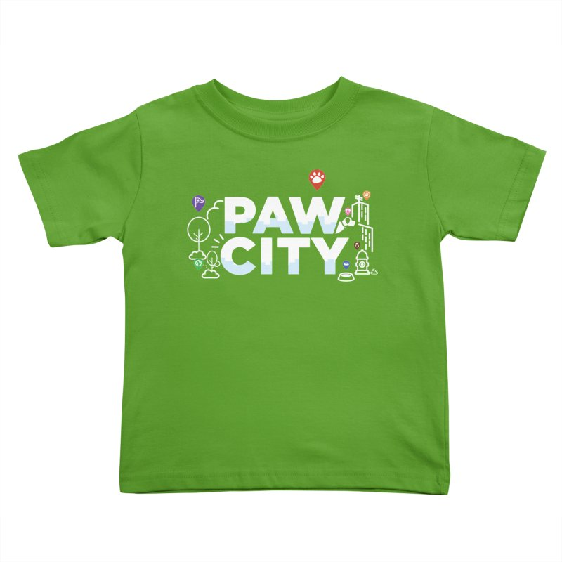 Paw City Kids Toddler T-Shirt by Katie Rose's Artist Shop