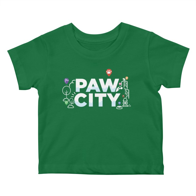 Paw City Kids Baby T-Shirt by Katie Rose's Artist Shop