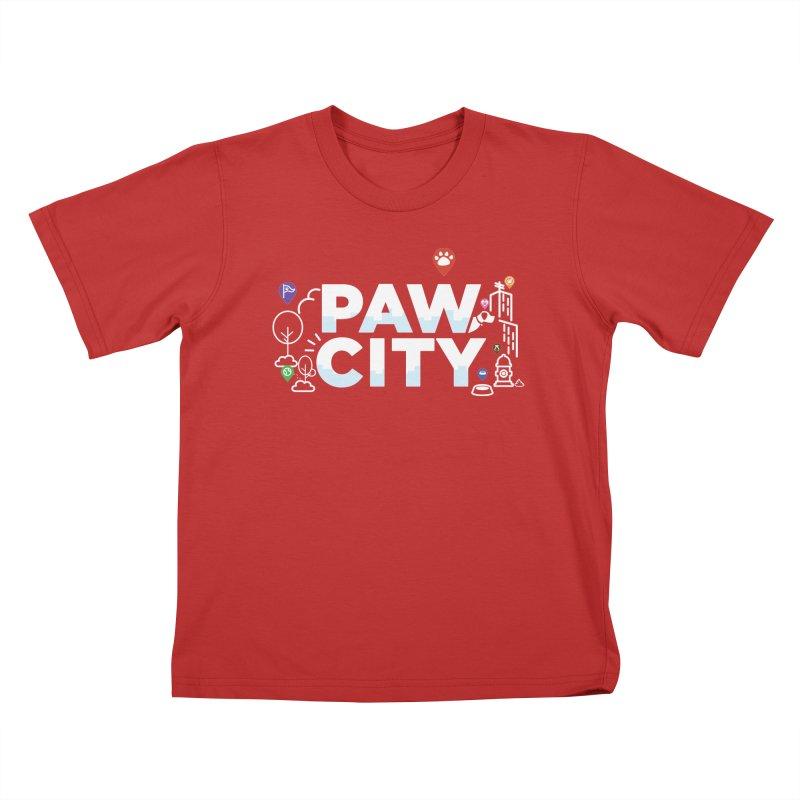 Paw City Kids T-Shirt by Katie Rose's Artist Shop