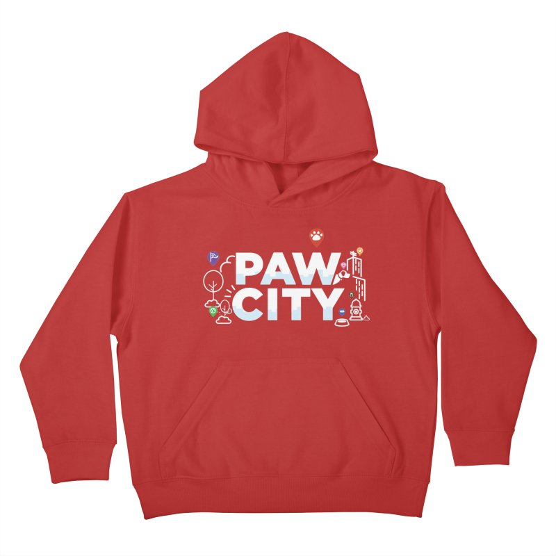 Paw City Kids Pullover Hoody by Katie Rose's Artist Shop