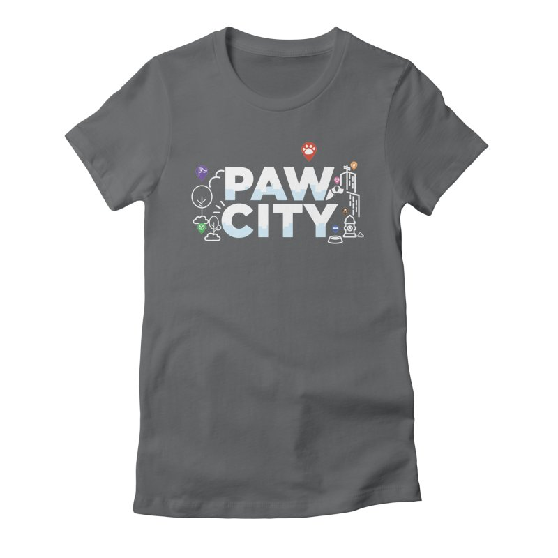 Paw City Women's Fitted T-Shirt by Katie Rose's Artist Shop