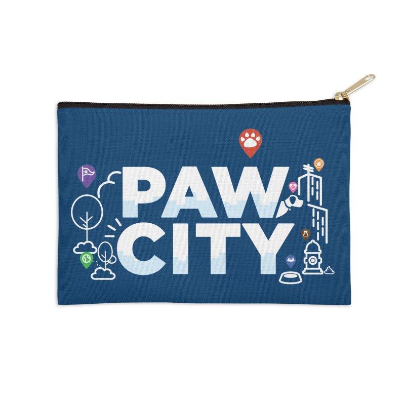 Paw City Accessories Zip Pouch by Katie Rose's Artist Shop