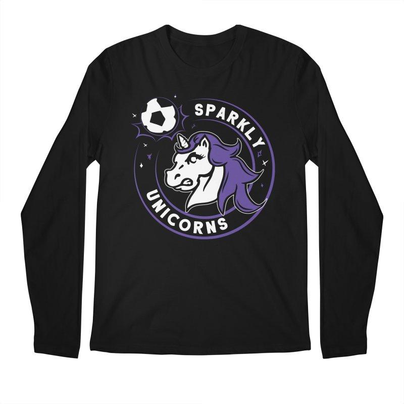 Sparkly Unicorns Men's Regular Longsleeve T-Shirt by Katie Rose's Artist Shop
