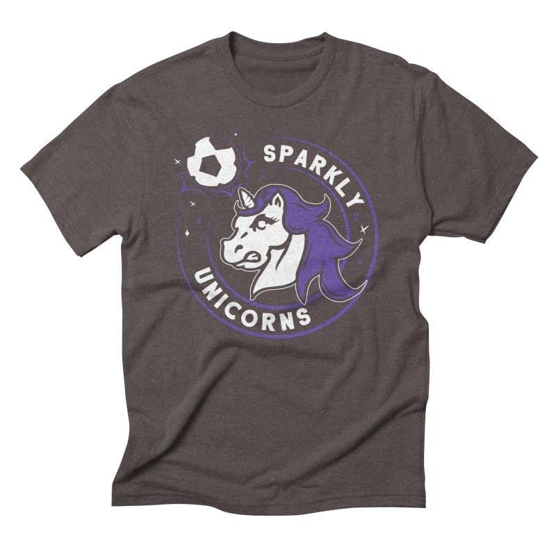 Sparkly Unicorns Men's Triblend T-Shirt by Katie Rose's Artist Shop