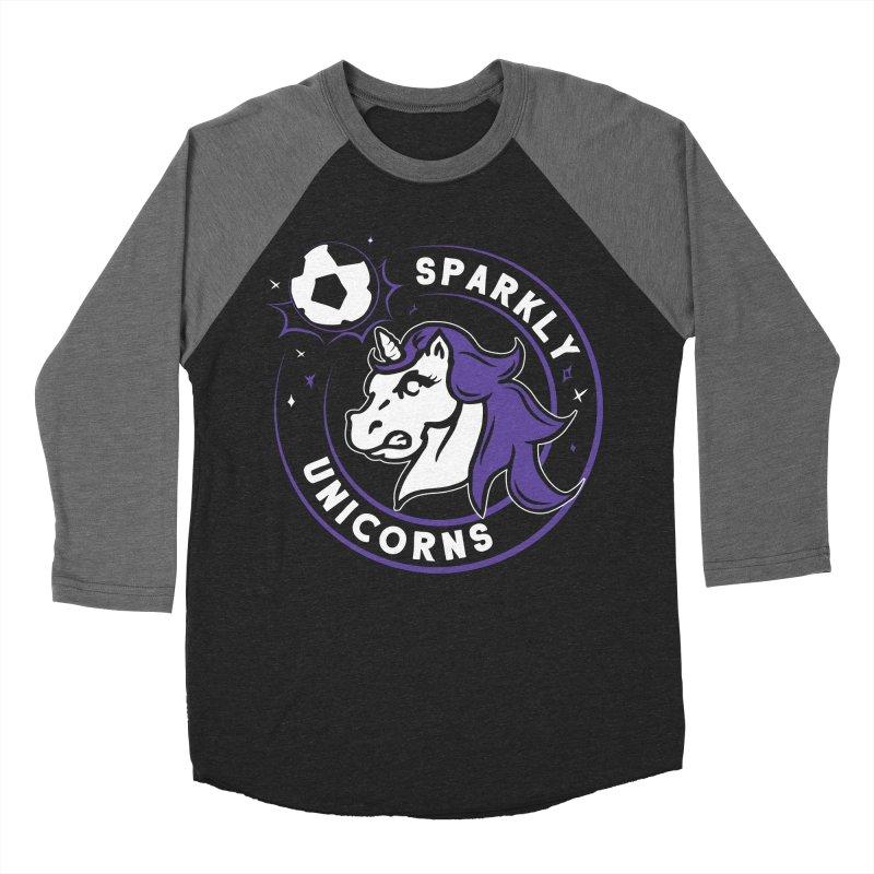 Sparkly Unicorns Men's Baseball Triblend Longsleeve T-Shirt by Katie Rose's Artist Shop