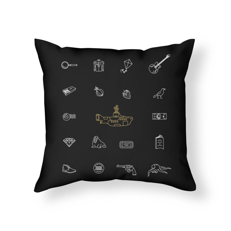 All you need is the Beatles Home Throw Pillow by Kat Manor's Artist Shop