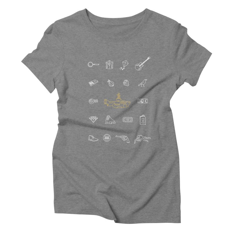 All you need is the Beatles Women's Triblend T-shirt by Kat Manor's Artist Shop