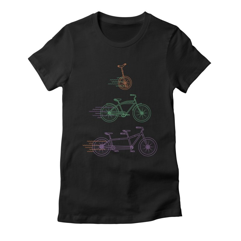 Here We Go Women's Fitted T-Shirt by Kat Manor's Artist Shop