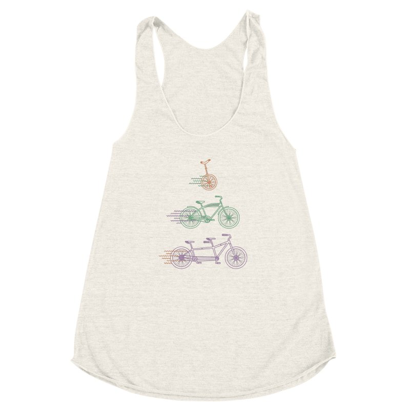 Here We Go Women's Racerback Triblend Tank by Kat Manor's Artist Shop