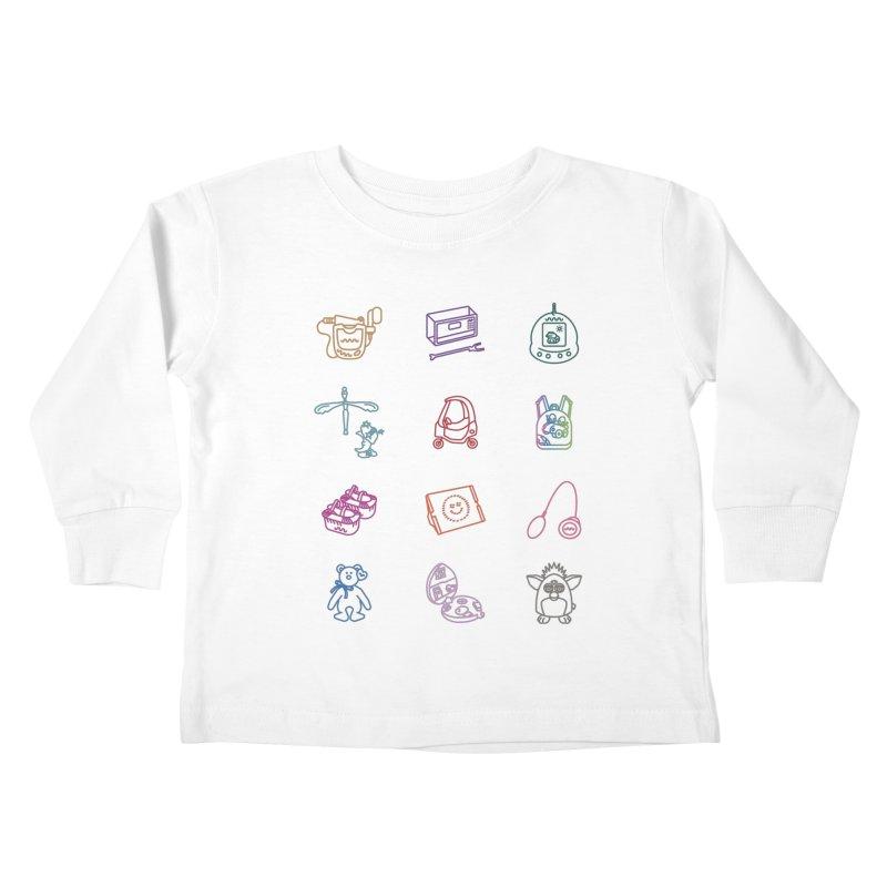 Throwback Kids Toddler Longsleeve T-Shirt by Kat Manor's Artist Shop