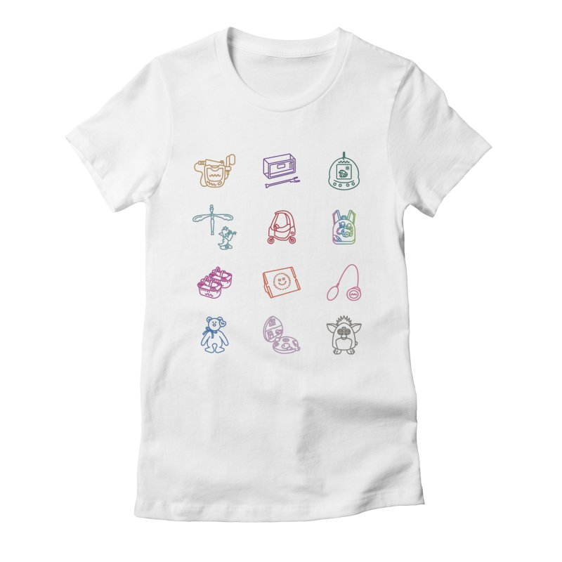 Throwback Women's Fitted T-Shirt by Kat Manor's Artist Shop