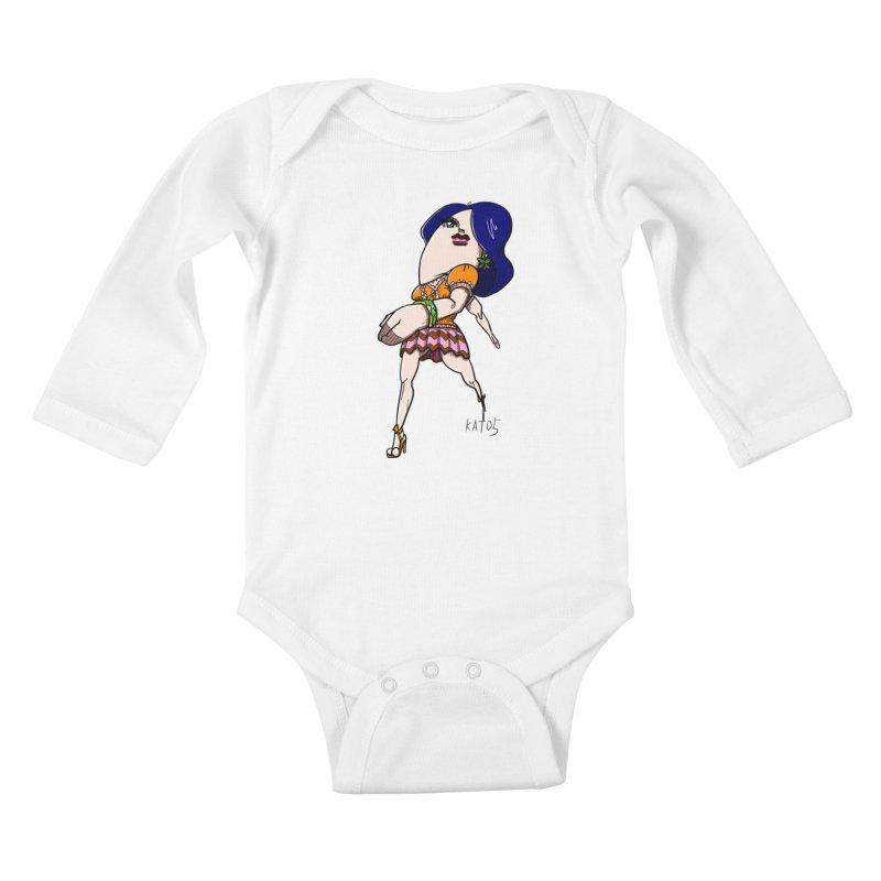 kato5sLady 1 Kids Baby Longsleeve Bodysuit by kato5's Shop