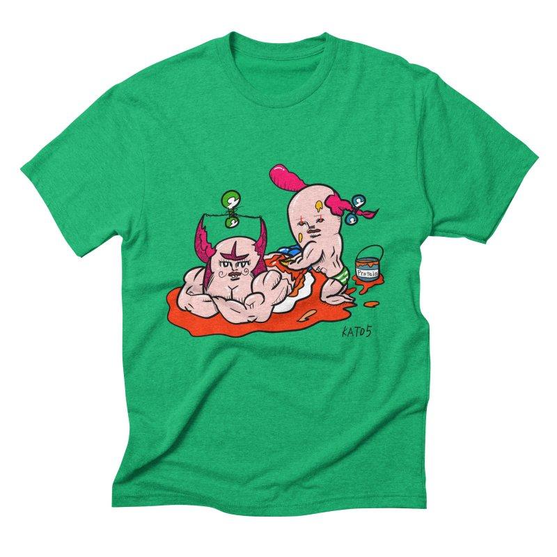 MuscleCaste 1 Men's Triblend T-Shirt by kato5's Shop