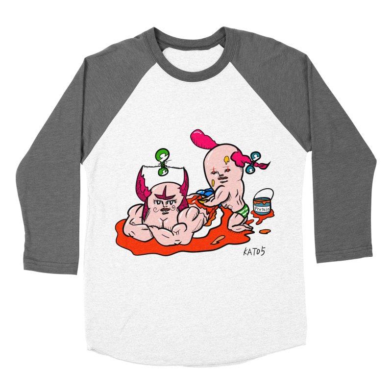 MuscleCaste 1 Women's Baseball Triblend T-Shirt by kato5's Shop