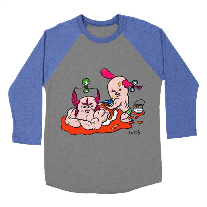 MuscleCaste 1 Men's Baseball Triblend T-Shirt by kato5's Shop