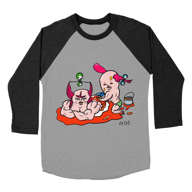 MuscleCaste 1 Men's Baseball Triblend Longsleeve T-Shirt by kato5's Shop