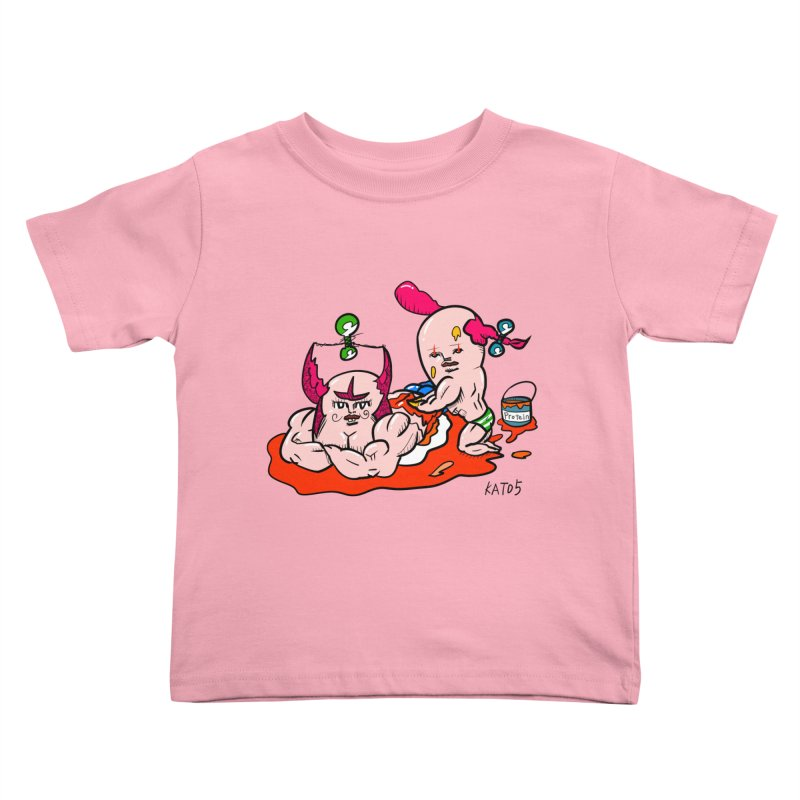 MuscleCaste 1 Kids Toddler T-Shirt by kato5's Shop