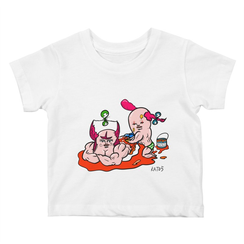 MuscleCaste 1 Kids Baby T-Shirt by kato5's Shop