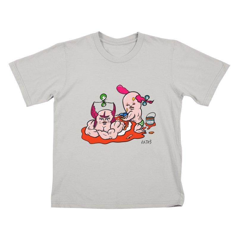 MuscleCaste 1 Kids T-Shirt by kato5's Shop