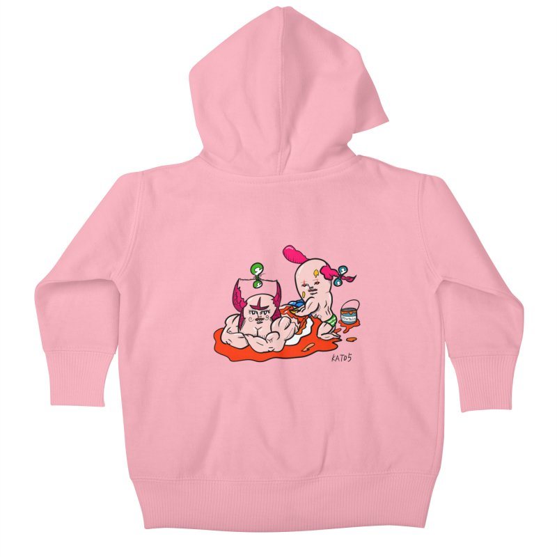 MuscleCaste 1 Kids Baby Zip-Up Hoody by kato5's Shop