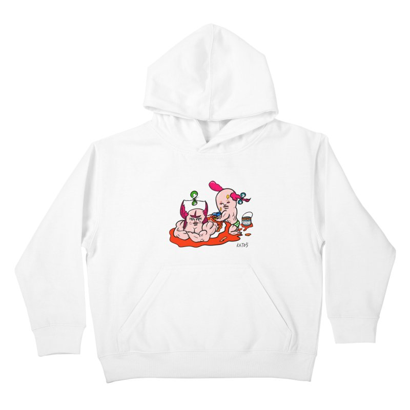 MuscleCaste 1 Kids Pullover Hoody by kato5's Shop