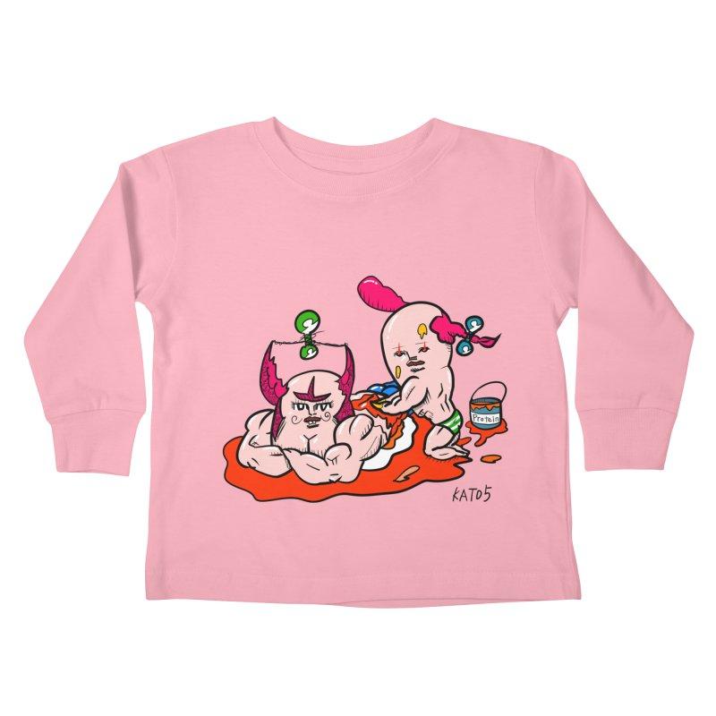 MuscleCaste 1 Kids Toddler Longsleeve T-Shirt by kato5's Shop