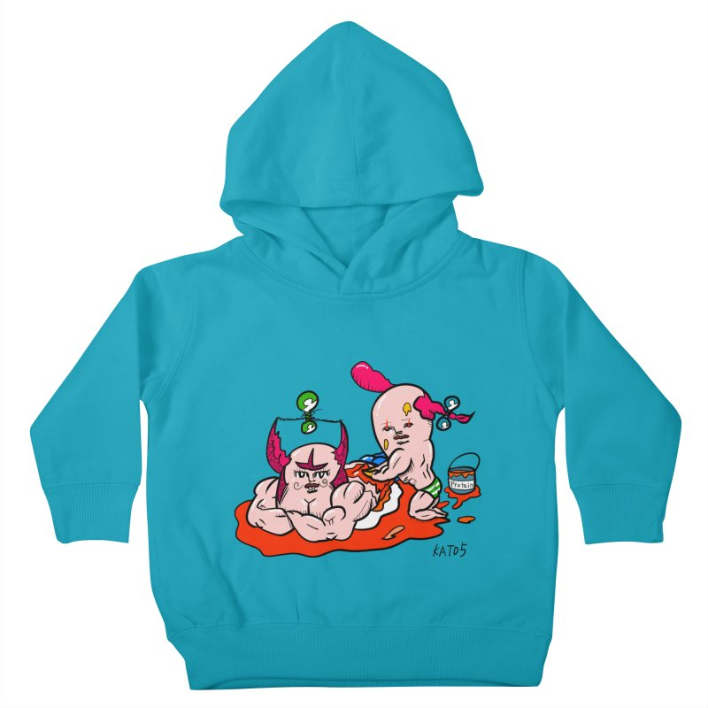 MuscleCaste 1 Kids Toddler Pullover Hoody by kato5's Shop