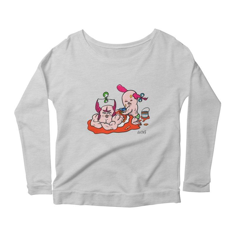 MuscleCaste 1 Women's Scoop Neck Longsleeve T-Shirt by kato5's Shop