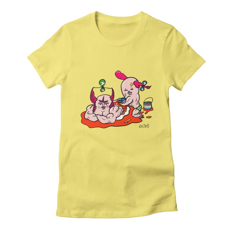MuscleCaste 1 Women's Fitted T-Shirt by kato5's Shop