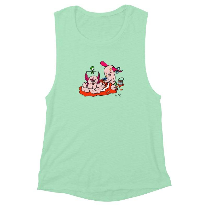 MuscleCaste 1 Women's Muscle Tank by kato5's Shop